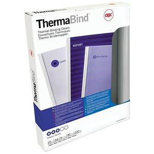 Image of GBC Thermal Binding Covers / 3mm / White / A4 / Pack of 25