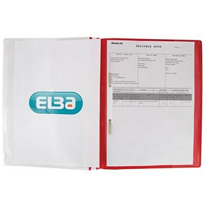Image of Elba A4+ Report File / Capacity: 160 Sheets / Red / Pack of 25