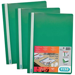 Image of Elba A4 Report File / Capacity: 160 Sheets / Green / Pack of 50