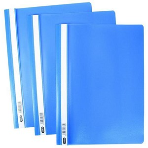 Image of Elba A4 Report File / Capacity: 160 Sheets / Blue / Pack of 50