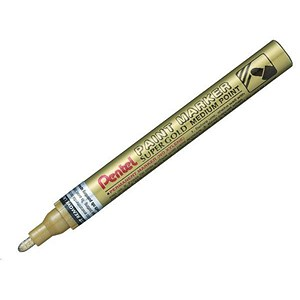 Image of Pentel Paint Markers / Metallic / Medium Point / Gold / Pack of 12