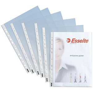 Image of Esselte A4 Economy Plastic Pockets - Pack of 100