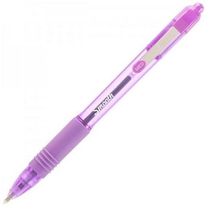 Image of Zebra Z-Grip Smooth Ballpoint Pens / Violet / Pack of 12