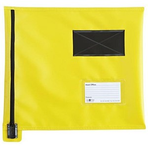 Image of A4+ Flat Mailing Pouch with Lockable Zip / 355x 386mm / Yellow
