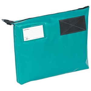Image of A4+ Mailing Pouch with Gusset & Lockable Zip / 381x336x76mm / Green