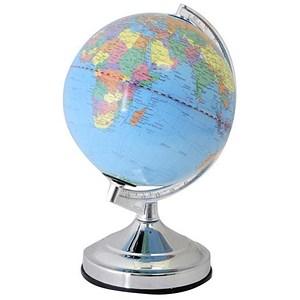 Image of World Globe Desk Lamp / E14 / 15W / Touch-activated Controls / 13in