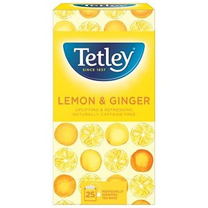 Image of Tetley Tea Bags / Green Tea with Lemon & Ginger / Pack of 25