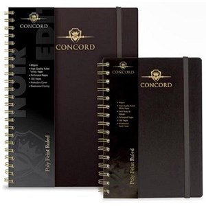 Image of Concord Polypropylene Wirobound Notebook / A5 / Pack of 3
