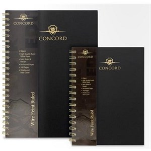 Image of Concord Hardcover Wirobound Notebook / A4 / Pack of 3