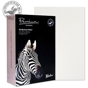 Image of Blake Premium A4 Paper / Diamond White / 120gsm / Ream (500 Sheets)