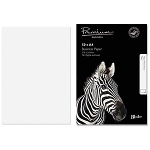 Image of Blake Premium A4 Paper / Wove Finish / High White / 120gsm / 50 Sheets