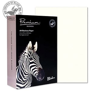 Image of Blake Premium A4 Paper / Wove Finish / High White / 120gsm / 500 Sheets