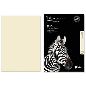 Image of Blake Premium A4 Paper / Wove Finish / Cream / 120gsm / 50 Sheets