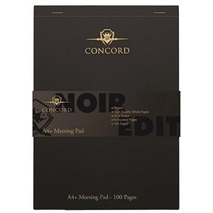 Image of Concord Noir Meeting Pad - Pack of 3