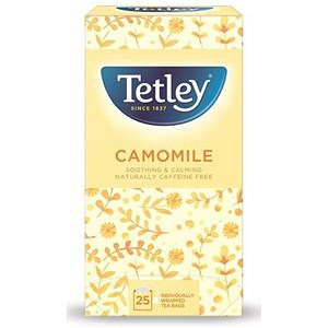 Image of Tetley Camomile Smile Tea Bags / Individually Wrapped / Pack of 25