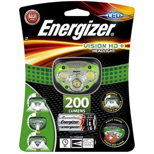 Image of Energizer Vision HD Plus Headlight / Dimmable / LED / 200 Lumens / 4 Light Modes