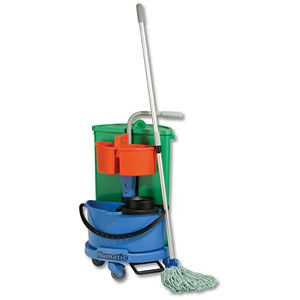 Image of Numatic Janitorial Carousel with 2 Buckets & Storage Caddy