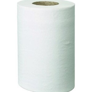 Image of Pristine Centrefeed Roll Hand Towel / Mini / Single Ply / White / 12 Rolls of 240 Sheets