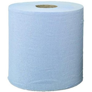 Image of Pristine Centrefeed Hand Towel Roll / 2-Ply / 150m / Blue / 6 Rolls