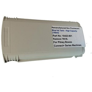 Image of Totalpost Compatible Blue Franking Inkjet Cartridge for Pitney Bowes ConnectPlus Series (Ref 10423-801)
