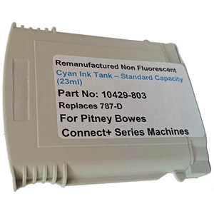 Image of Totalpost Compatible Cyan Franking Inkjet Cartridge for Pitney Bowes ConnectPlus Series (Ref 10429-803)