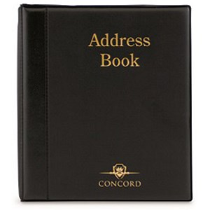 Image of Telephone Index Book Binder with Matching A-Z Index and 20 Sheets / A5 / Black