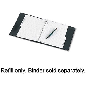 Image of Telephone Index Book Refill - 20 Untabbed Sheets / A5 / White