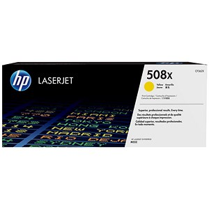 Image of HP 508X Yellow LaserJet Toner Cartridge