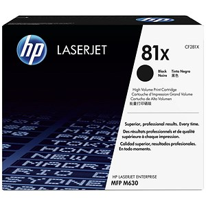 Image of HP 81X Black LaserJet Toner Cartridge
