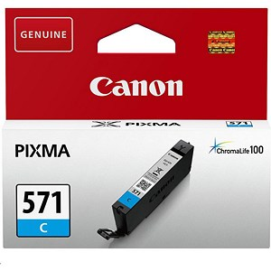 Image of Canon CLI-571 InkJet Cartridge Page Life 340pp Cyan Ref 0386C001