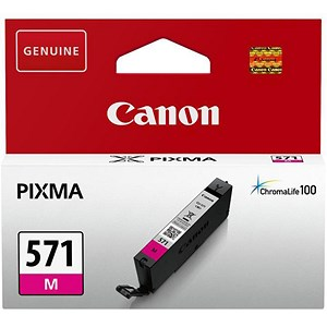 Image of Canon CLI-571 InkJet Cartridge Page Life 300pp Magenta Ref 0387C001
