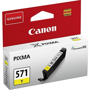 Image of Canon CLI-571 InkJet Cartridge Page Life 340pp Yellow Ref 0388C001