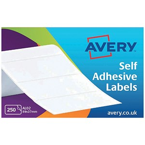 Image of Avery Address Labels Roll / 89x37mm / Ref AL02 / 250 Labels