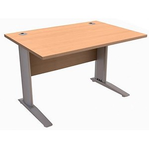 Image of Sonix Cantilever Rectangular Desk / 1200mm / Beech