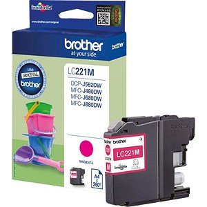 Image of Brother LC221 Magenta Inkjet Cartridge
