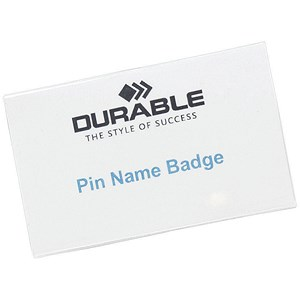 Image of Durable Name Badges / Pin / 75x40mm / Pack of 100