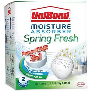 Image of Unibond Moisture Absorber Bubble Refill Spring Fresh Refill - Pack of 2