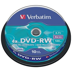 Image of Verbatim DVD-RW Recordable - Pack of 10