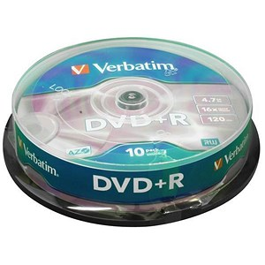 Image of Verbatim DVD+R Spindle - Pack of 10
