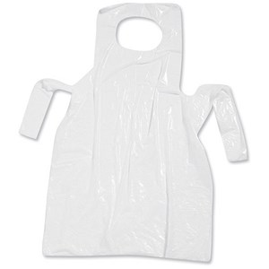 Image of Apron Roll / Disposable Polythene / White / Pack 200