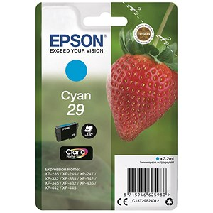 Image of Epson No. 29 Cyan InkJet Cartridge