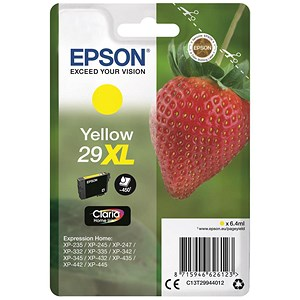 Image of Epson No. 29XL Yellow InkJet Cartridge