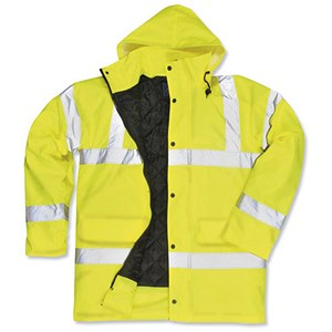 Image of High Visibility Coat with Waterproof Coating / Large / Yellow