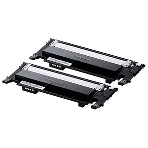 Image of Samsung CLT-P406B/EL Black Laser Toner Cartridge - Pack of 2