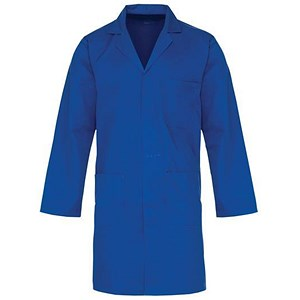 Image of Supertouch Lab Coat / Polycotton / 3 Pockets / Navy / Medium