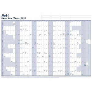 Image of Mark-it 2018 Giant Year Planner / Unmounted / 1200x900mm