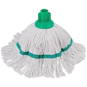 Image of Robert Scott & Sons Hygiemix T1 Socket Mop Cotton & Synthetic Yarn Colour-coded 200g Green Ref YLTG20