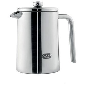 Image of Addis Cafetiere 7 Hours Heat-retention 1.2 Litre Stainless Steel Ref 517471