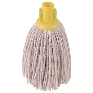 Image of Robert Scott & Sons Smooth Surface Mop Head / Socket / PY Yarn / 12oz / Yellow / Pack of 10