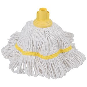 Image of Robert Scott & Sons Hygiemix T1 Socket Mop Cotton & Synthetic Yarn Colour-coded 250g Yellow Ref YLTY250